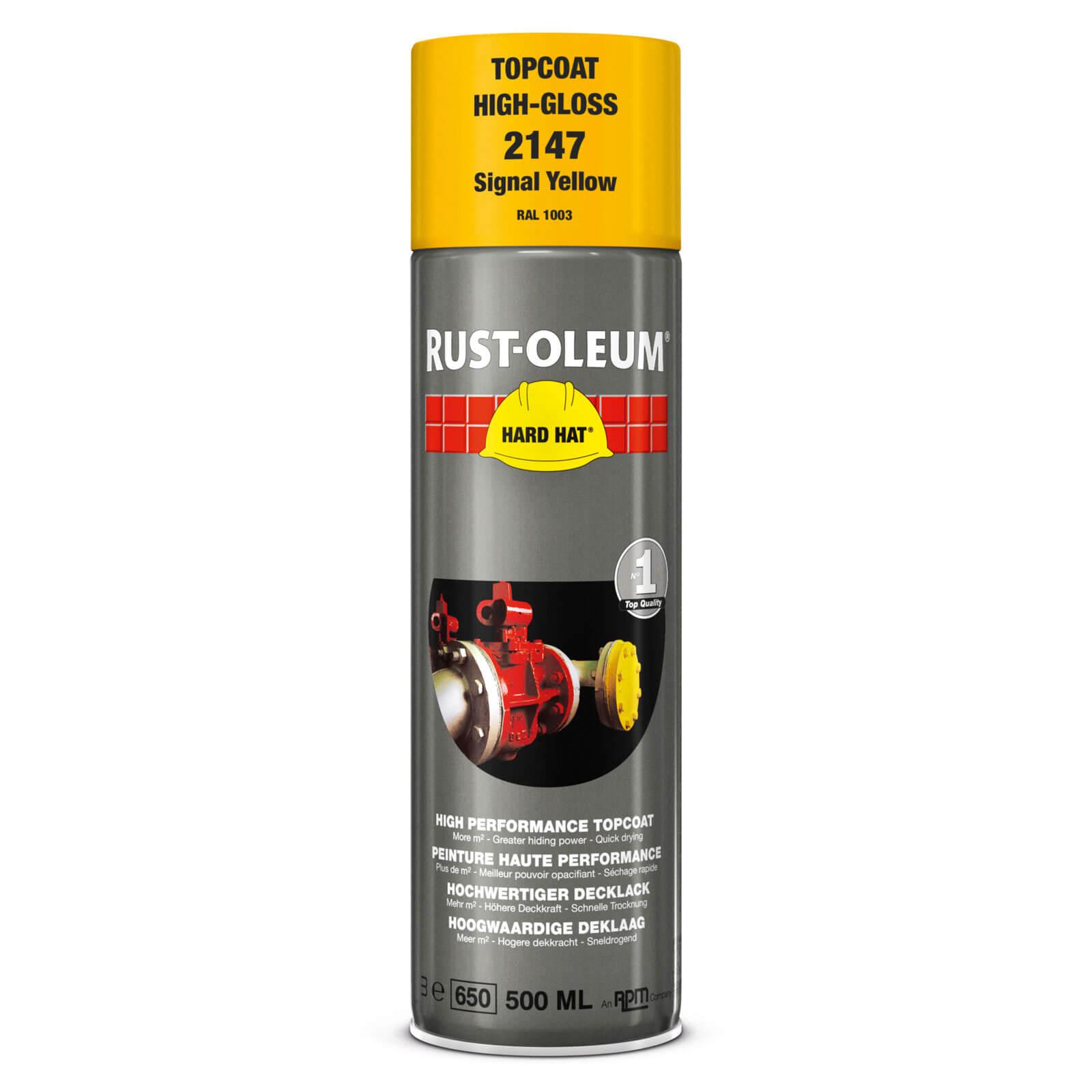Rust Oleum Hard Hat Metal Spray Paint Signal Yellow 500ml