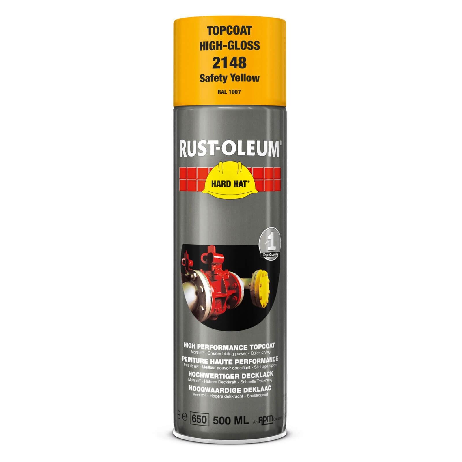 Rust Oleum Hard Hat Metal Spray Paint Safety Yellow 500ml