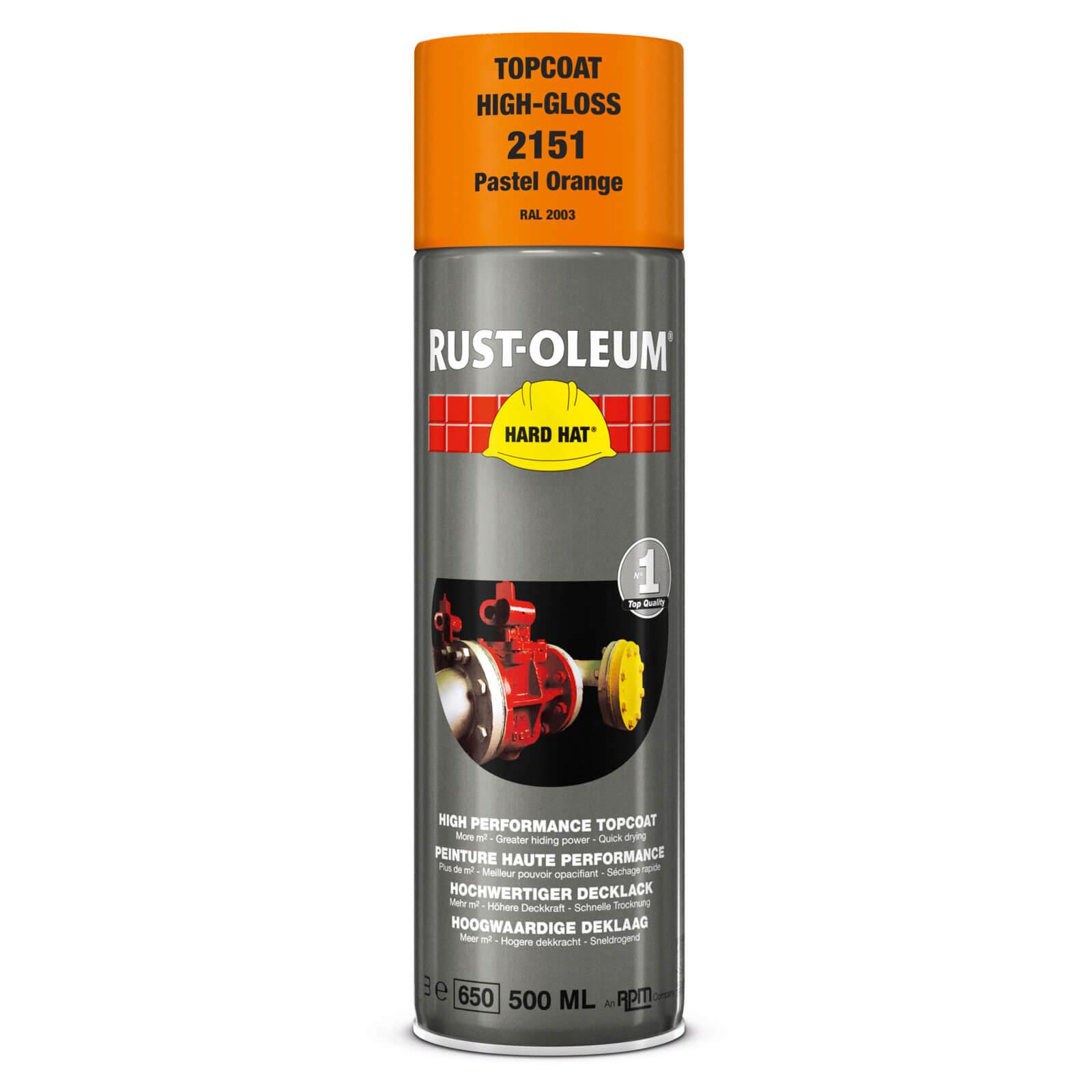 Rust Oleum Hard Hat Metal Spray Paint Pastel Orange 500ml
