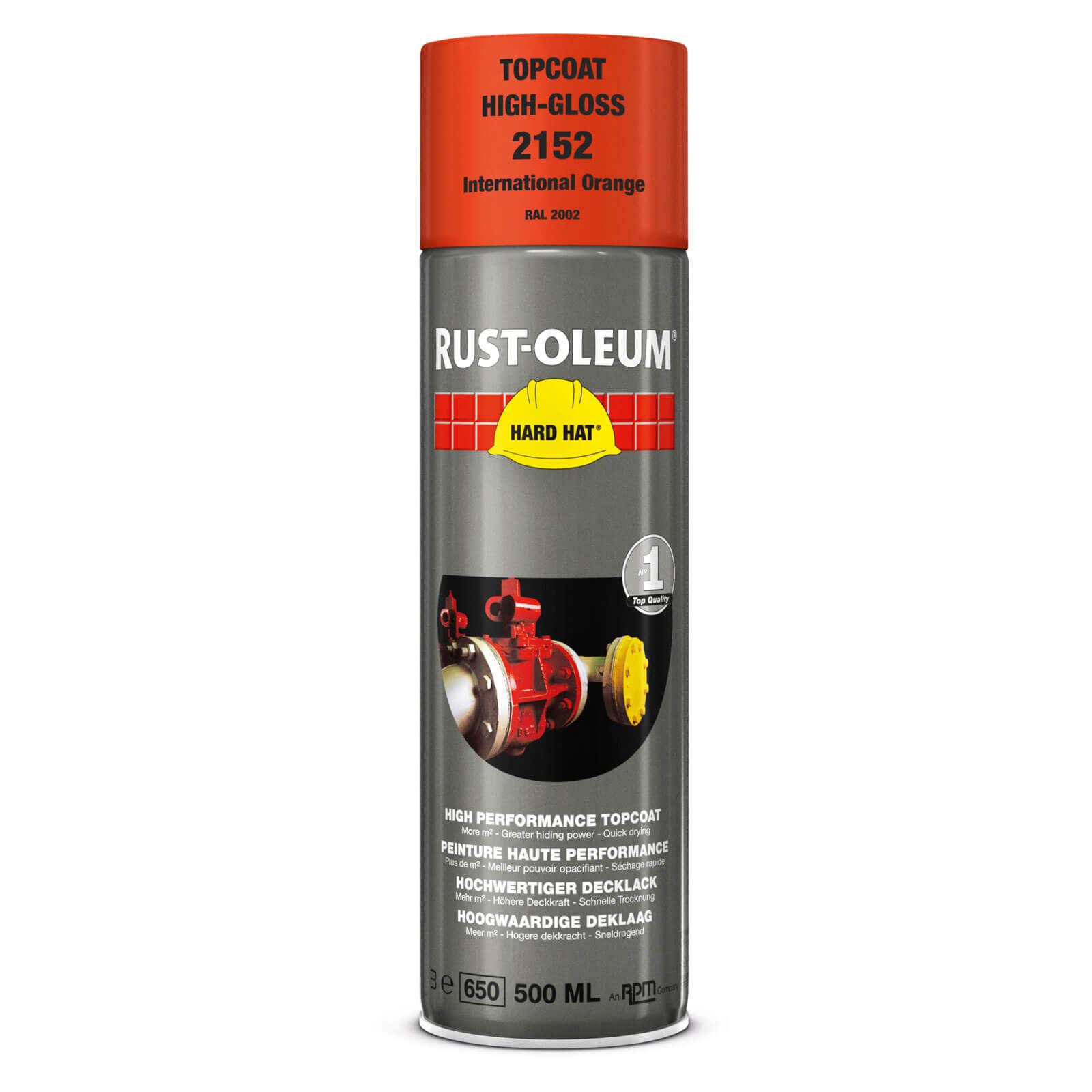 Rust Oleum Hard Hat Metal Spray Paint International Orange 500ml