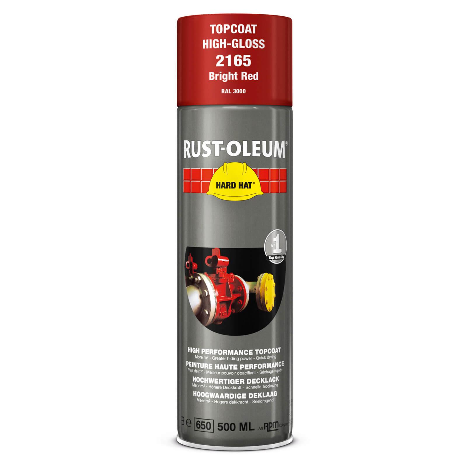 Rust Oleum Hard Hat Metal Spray Paint Bright Red 500ml
