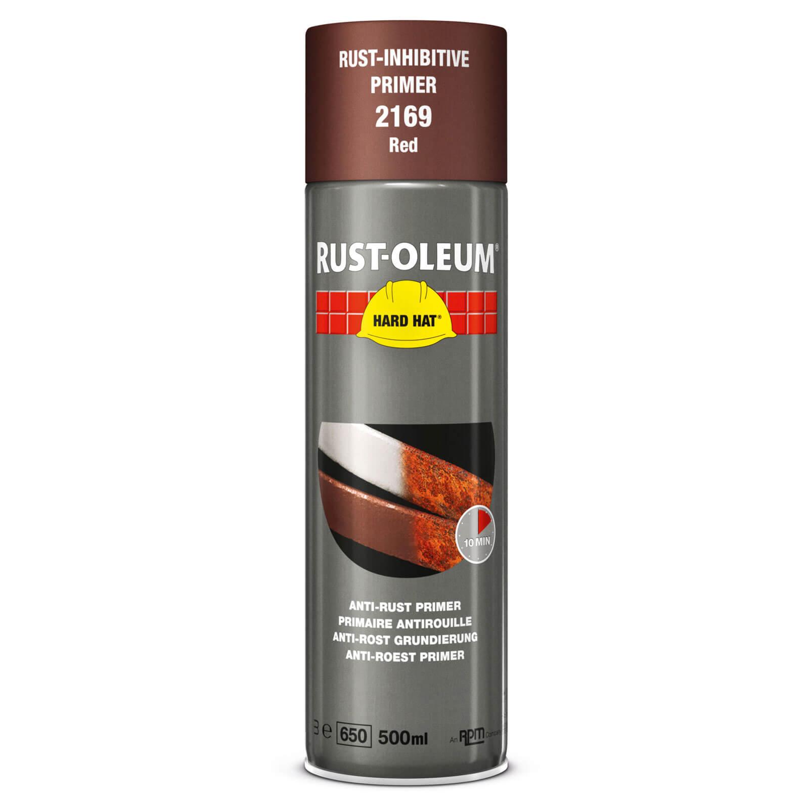 Rust Oleum Hard Hat Metal Primer Spray Paint Red 500ml