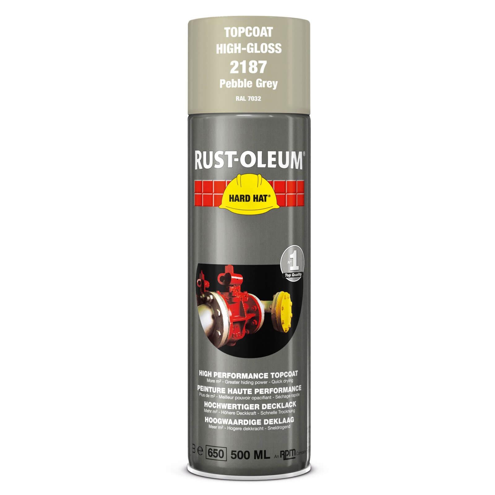 Rust Oleum Hard Hat Metal Spray Paint Pebble Grey 500ml