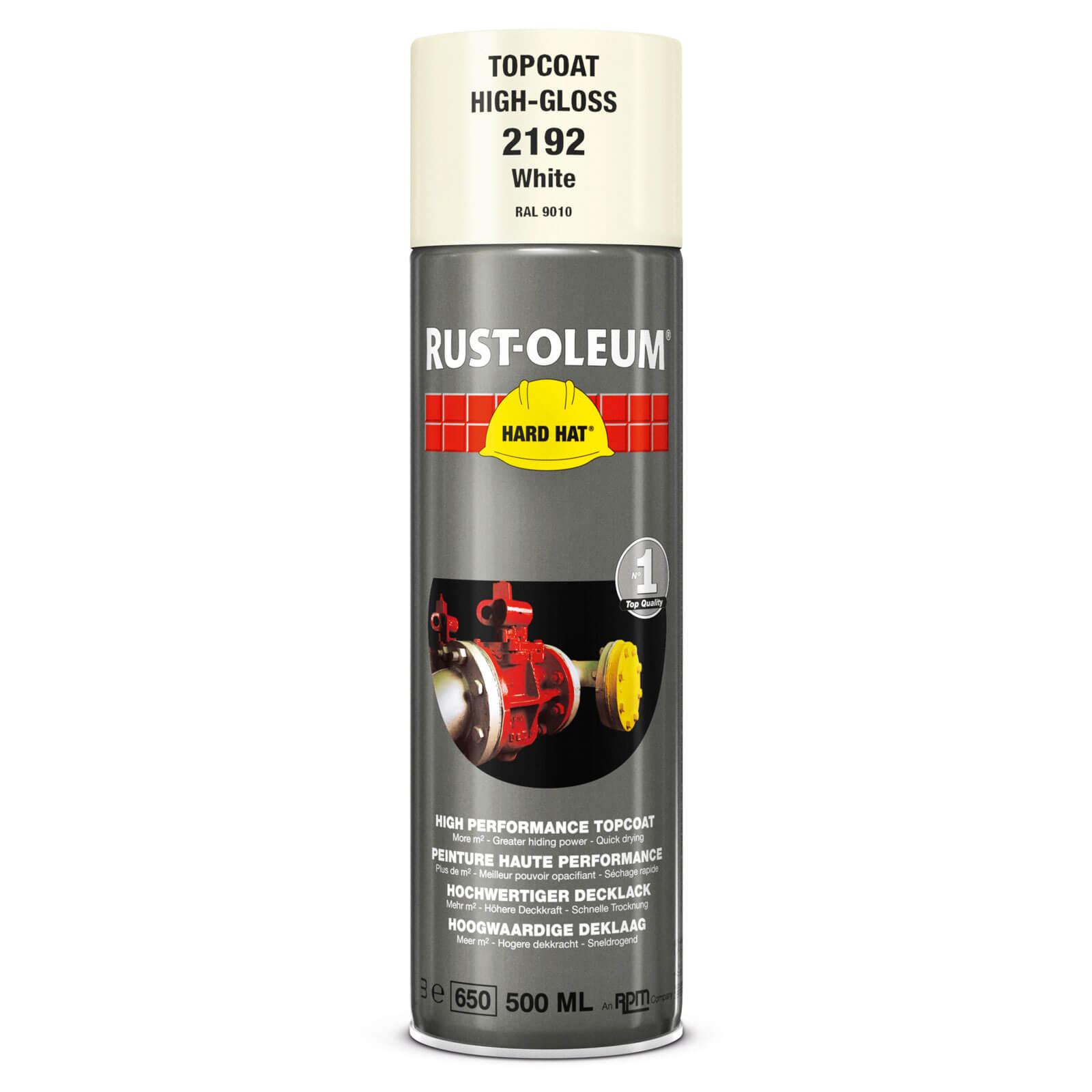 Rust Oleum Hard Hat Metal Spray Paint White 500ml