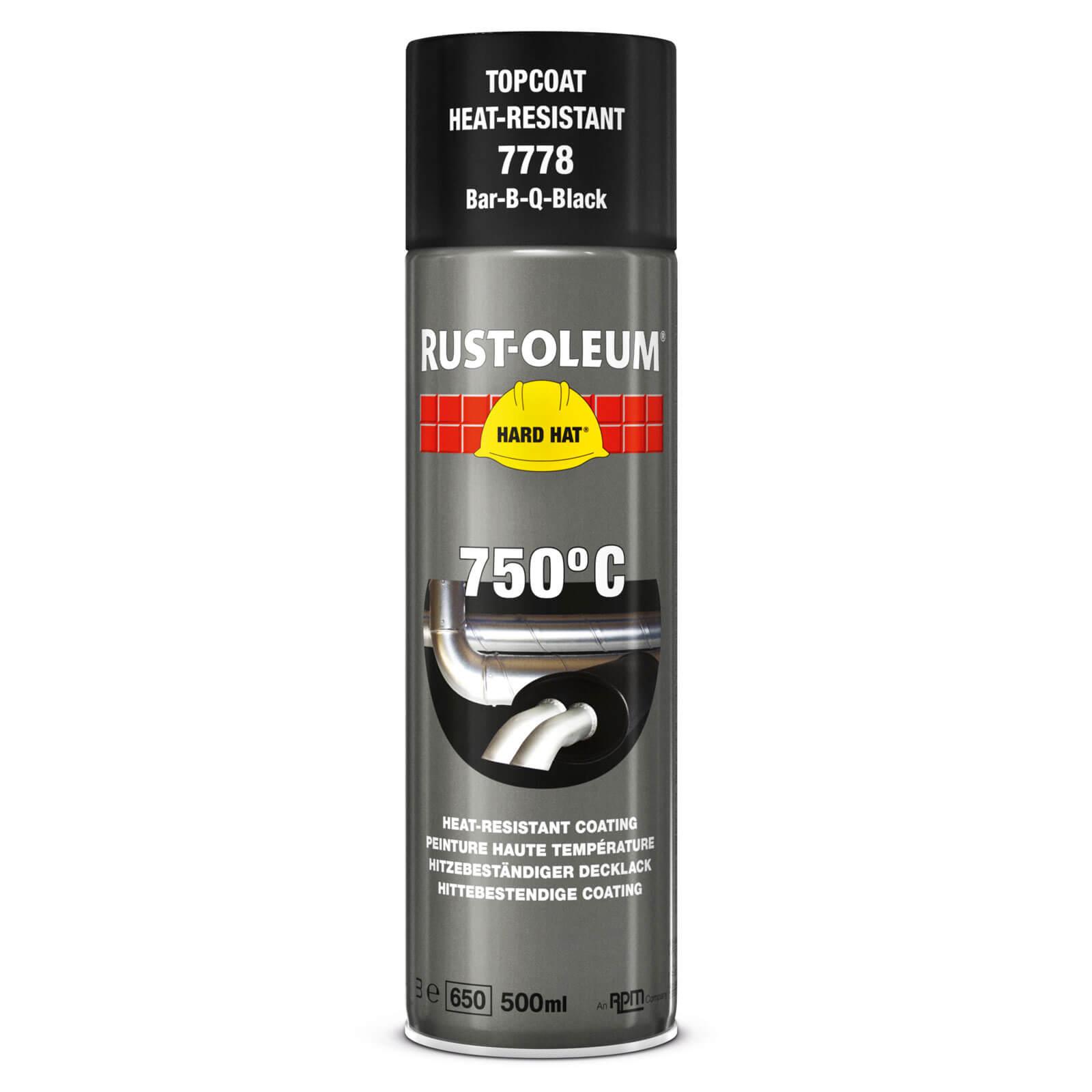 Rust Oleum Hard Hat Heat Resistant Spray Paint Black 500ml