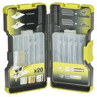 Ryobi 20 Piece Metal and Wood Cutting Jigsaw Blade Set