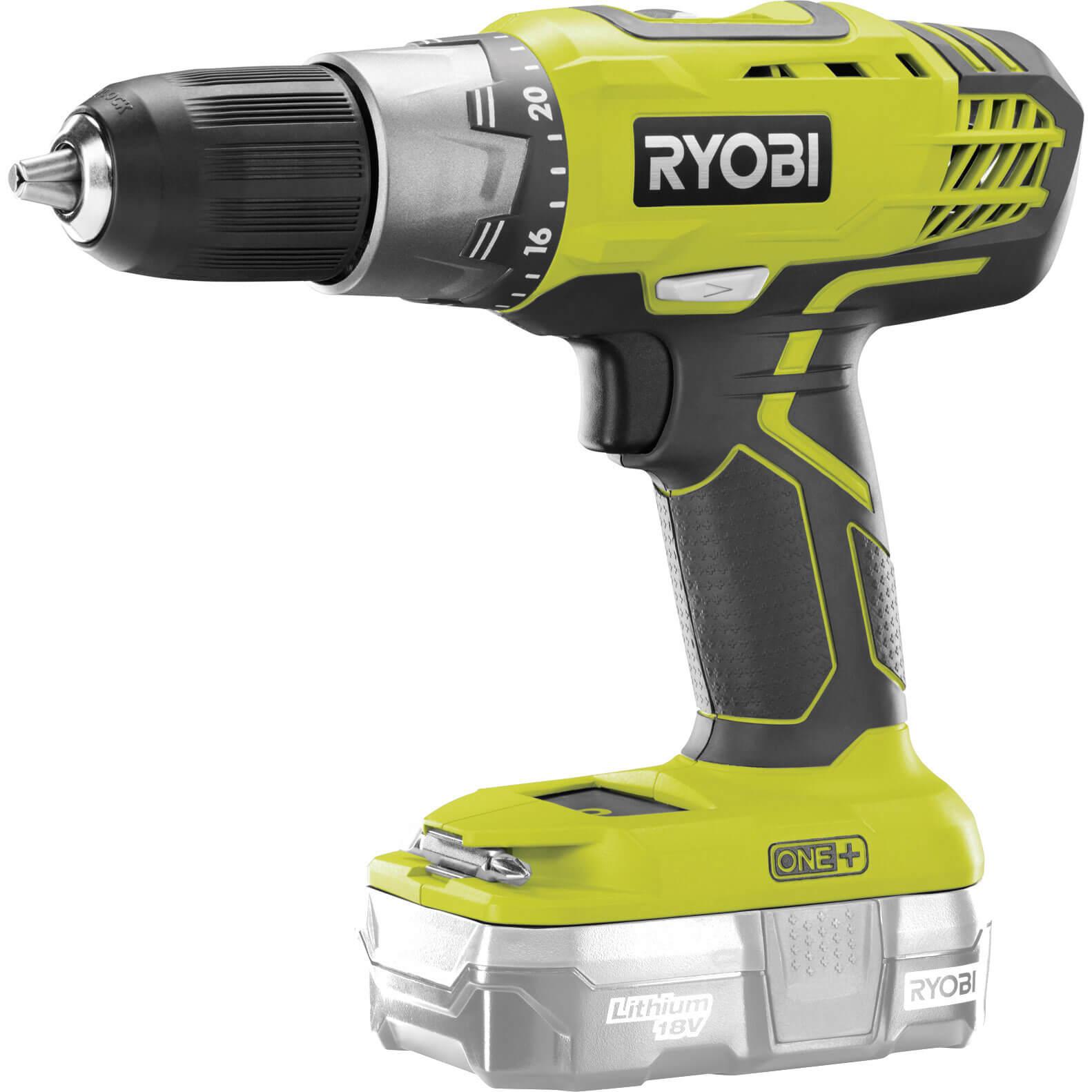 ryobi r18ddp2 one 18v cordless drill driver rh tooled up com ryobi 18v drill instructions ryobi cordless drill manual