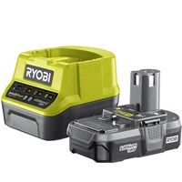 Ryobi RC18120-113 ONE+ 18v Cordless Fast Battery Charger and Li-ion Battery 1.3ah