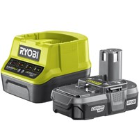Ryobi RC18120-120 ONE+ 18v Cordless Fast Battery Charger and Li-ion Battery 2ah
