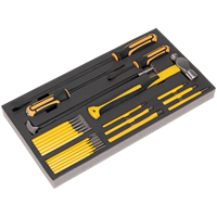 Siegen Tool Tray with Prybar, Hammer and Punch 23 Piece Set