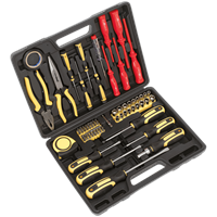 Siegen 72 Piece Screwdriver Socket and Bit Hand Tool Set