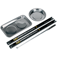 Siegen 5 Piece Magnetic Tray, Rail and Pick Up Tool Set