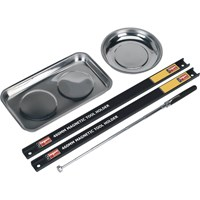 Siegen 5 Piece Magnetic Tray, Rail & Pick Up Tool Set