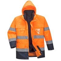 Portwest Lite 3 in 1 Hi Vis Jacket and Detachable Fleece