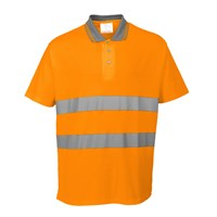 Portwest Mens Class 2 Hi Vis Cotton Comfort Polo Shirt