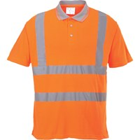Portwest Class 2 Hi Vis Ribbed Polo Shirt