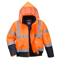 Oxford Weave 300D Class 3 Two Tone Hi Vis Bomber Jacket