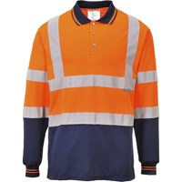 Portwest Mens Hi Vis Long Sleeved Polo Shirt