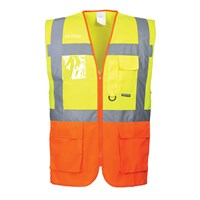 Portwest Prague Executive Class 2 Hi Vis Waistcoat