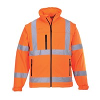 Portwest 2 in 1 Waterproof Hi Vis Softshell Jacket
