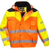 Contrast Plus Hi Vis Bomber Jacket and Detachable Lining