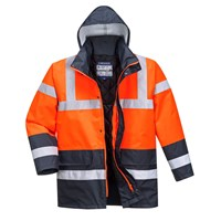 Oxford Weave 300D Class 3 Hi Vis Contrast Traffic Jacket