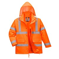 Oxford Weave 300D Class 3 Hi Vis 4-in1 Traffic Jacket