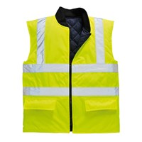 Oxford Weave 300D Class 2 Reversible Hi Vis Body Warmer