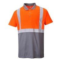 Portwest Mens Two Tone Class 1 Hi Vis Polo Shirt