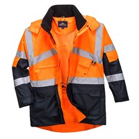 Oxford Weave 300D Class 2 Hi Vis 2-Tone Breathable Jacket