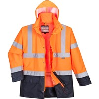 Oxford Weave 300D Class 3 Hi Vis 5-in1 Executive Jacket