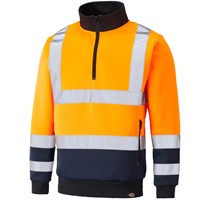 Dickies High Vis Quarter Zip Sweatshirt
