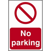 Scan No Parking Sign