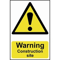 Scan Warning Construction Site Sign
