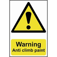 Scan Warning Anti Climb Paint Sign
