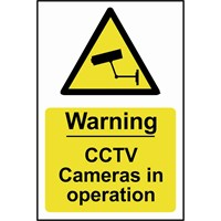 Scan Warning CCTV Cameras In Operation Sign