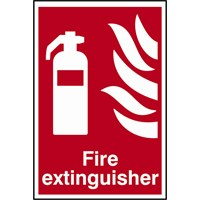 Scan Fire Extinguisher Sign