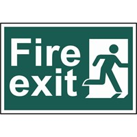 Scan Fire Exit Running Man Sign