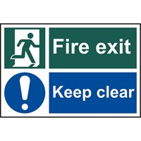 Scan Fire Exit Keep Clear Sign