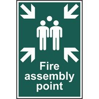 Scan Fire Assembly Point Sign