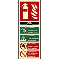 Scan CO2 Fire Extinguisher Sign