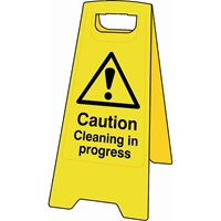 Scan Heavy Duty A-Board Sign - Caution Cleaning In Progress