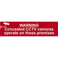 Scan Warning Concealed CCTV Cameras Operate On These Premises Sign