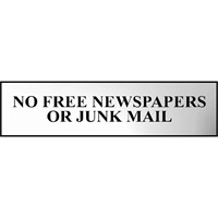 Scan Chrome Effect No Free Newspapers Or Junk Mail Sign