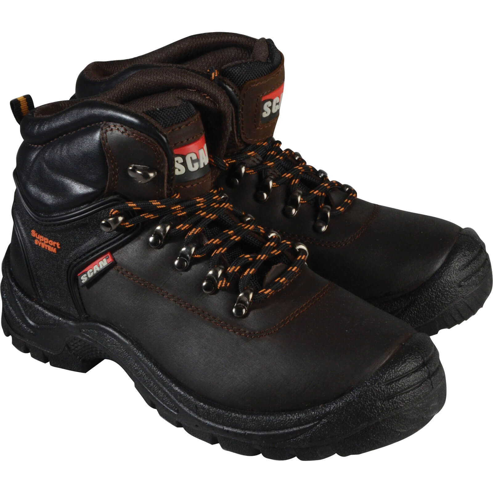 Scan Mens Lynx Safety Boots Brown 11