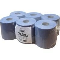 Scan 2 Ply Paper Towel Wiping Rolls