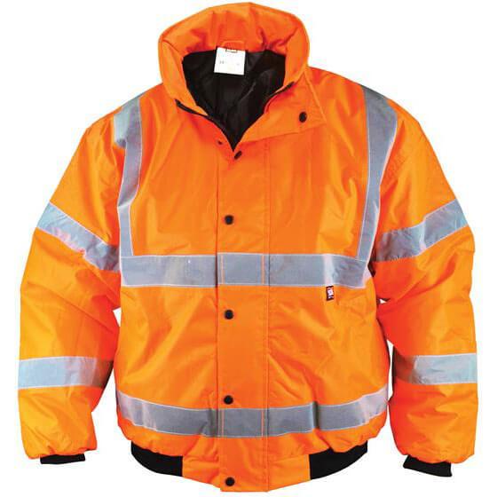 Scan Mens Hi Vis Bomber Jacket Orange XL