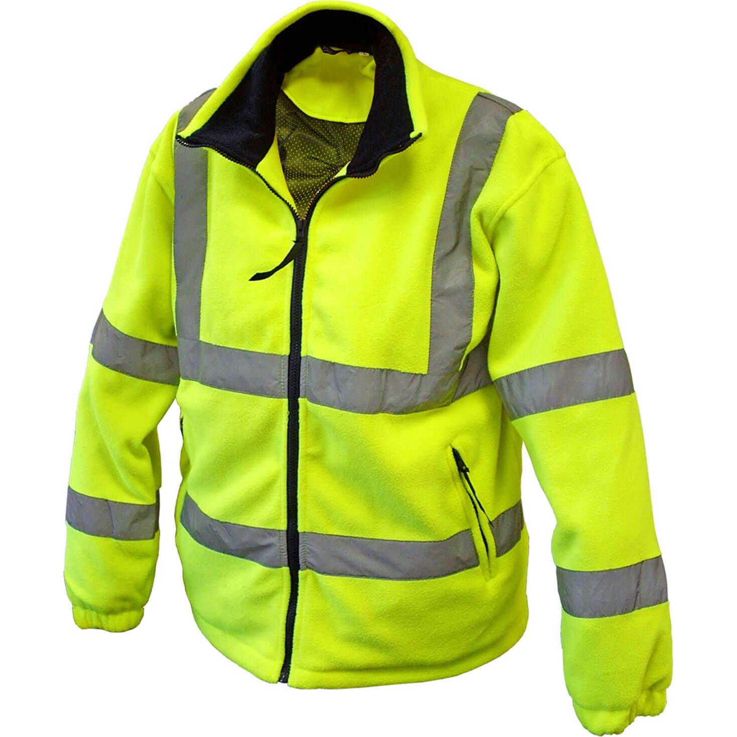 Scan Mens Hi Vis Fleece Jacket Yellow XL