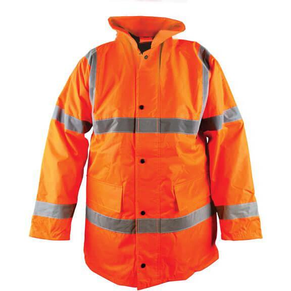 Scan Hi Vis Motorway Jacket Orange M