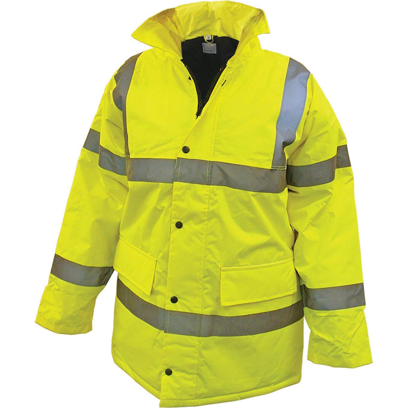 Scan Hi Vis Motorway Jacket Yellow L